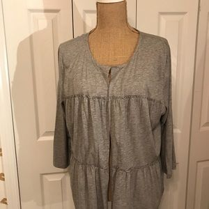 Gray thin sweater by Talbots